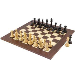 Longfield Games Pi/èces d/échecs avec du Feutre Bois King 76mm