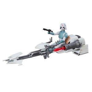 FIGURINE - PERSONNAGE Figurine et véhicule léger Star Wars : Speeder imp