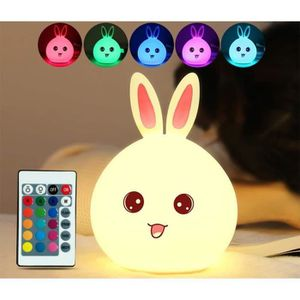 LAMPE A POSER Mignon Lapin LED USB Veilleuse Lampe Nuit Lampe Co
