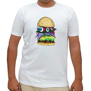 T-SHIRT Men's Big Burger With Eye - Round Neck Printed T-s