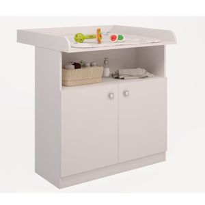 TABLE À LANGER Polini enfants commode table à langer simple blanc