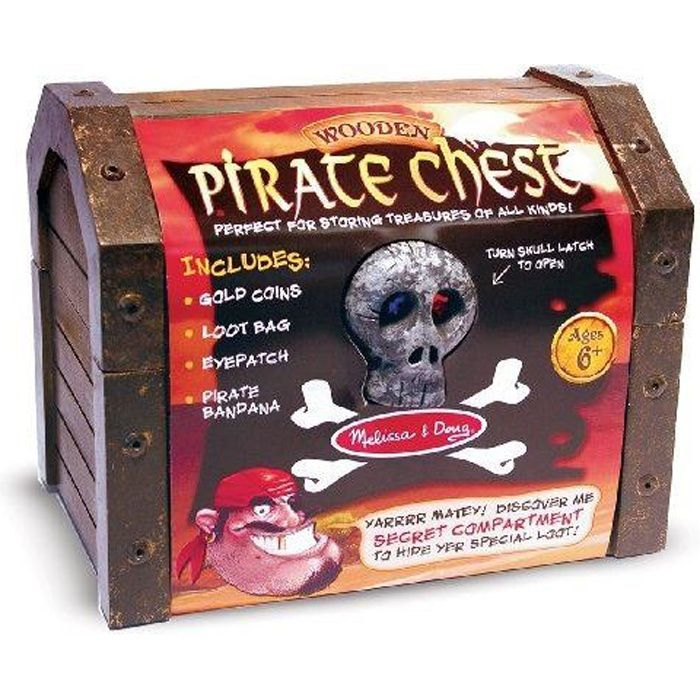 MELISSA & DOUG Coffre De Pirate En Bois