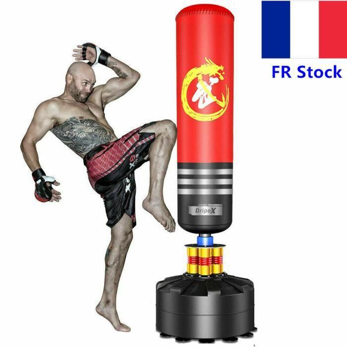 Sac de frappe de boxe sur pied 1,75 m – Sac de frappe résistance et durabilité de qualité exceptionnelle pour boxe, kick boxing