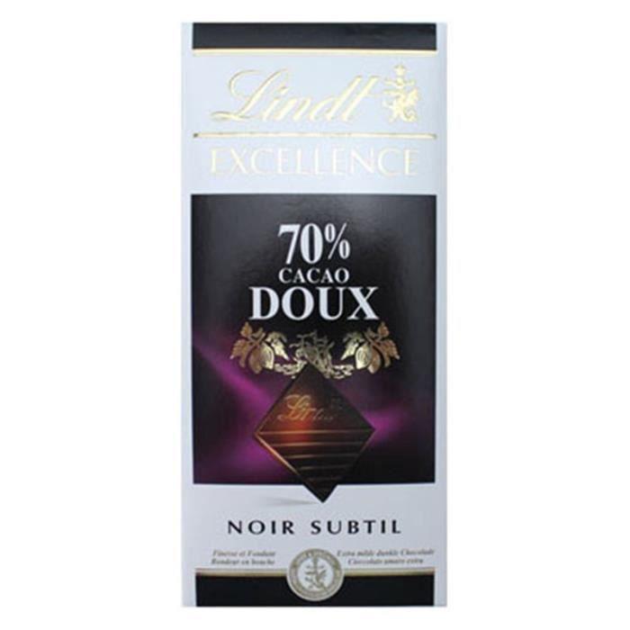 Lindt Excellence Noir Subtile 70% Cacao Doux (lot de 4)