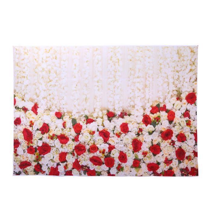1PC Photo toile de fond tissu fleur mur photographique pour studio de fête de mariage STUDIO BACKGROUND
