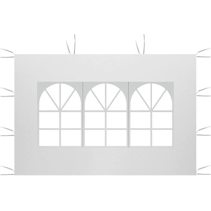 TONNELLE 3M x 2M Panneaux latéraux pour tonnelle de Jardin,Panneau latéral de Gazebo pour Tente,Tonnelle Pliante Imperméable en 1040
