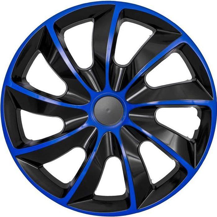 Enjoliveurs de roues 16- 4pcs universel bleu-noir QUAD NRM