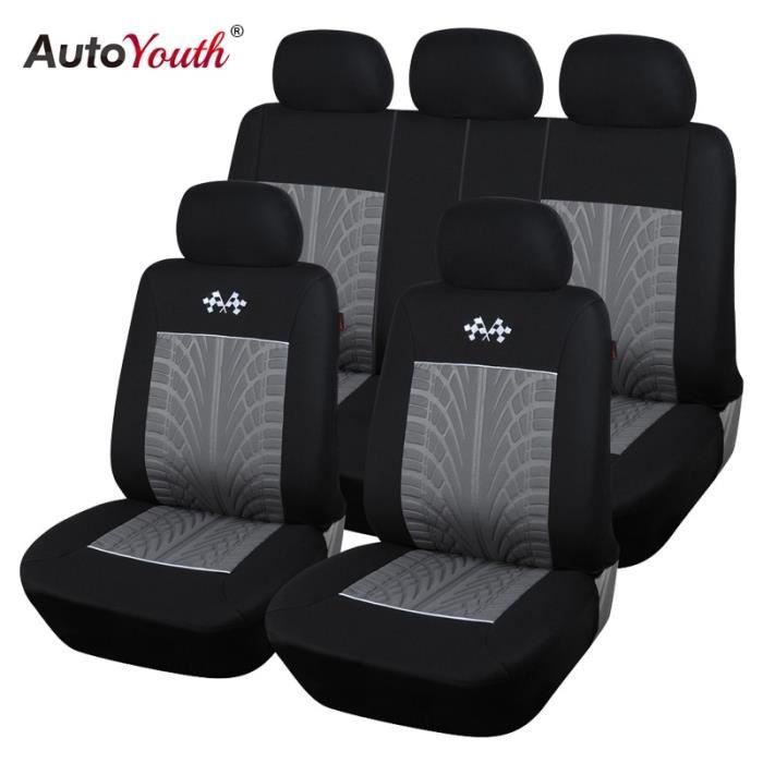 GRAY -AUTOYOUTH – housses universelles de protection de siège de voiture, accessoires d'intérieur pour TOYOTA Corolla RAV4, noir