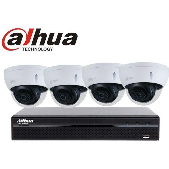 kit dahua 4 Caméras IP PoE 2mégapixels vidéosurveillance
