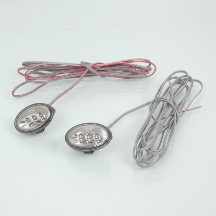 Paire de mini clignotant LED 12V orange pour moto type œil de chat cat eye Neuf