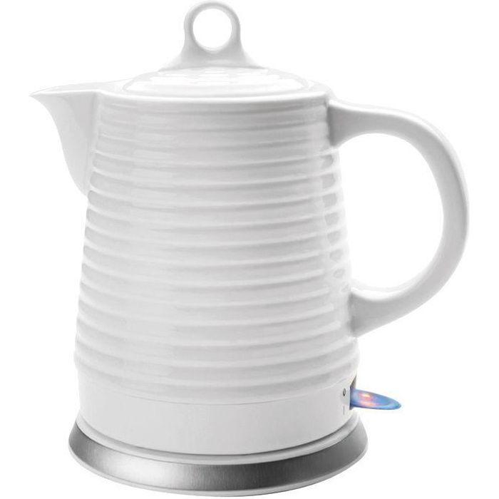 Bouilloire électrique 1l3 céramique blanc