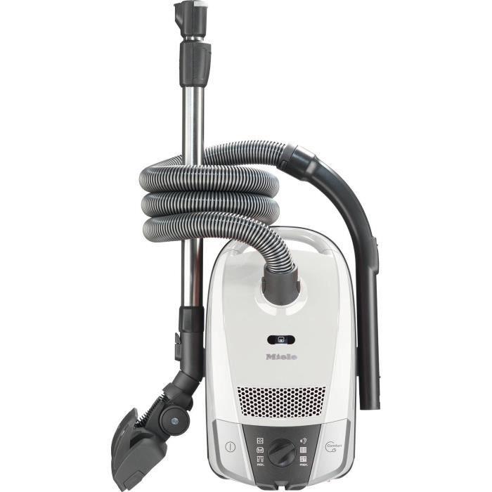 MIELE - Aspirateur Compact C2 Silence EcoLine - 550W - 68 dB(A) - Sélecteur rotatif à 6 positions - Brosse Double position - Blanc