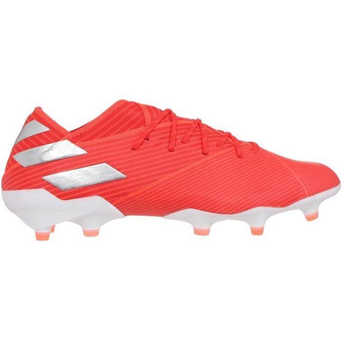 ADIDAS PERFORMANCE Chaussures de Football Nemeziz 19.1 FG - Enfant - Rouge/Argent