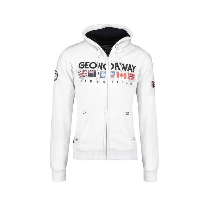 Sweat Homme Geographical Norway Gouky Blanc