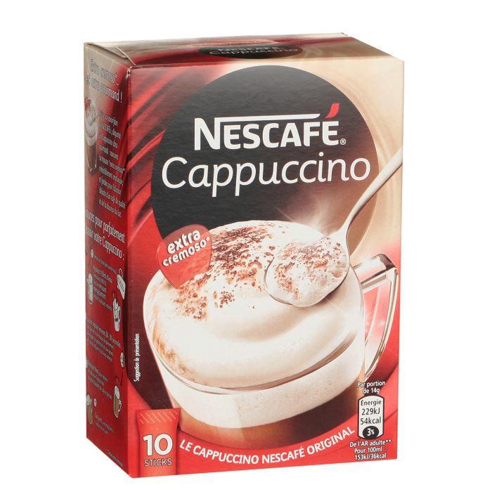 NESCAFE Cappuccino sucre - 10 x 14 g