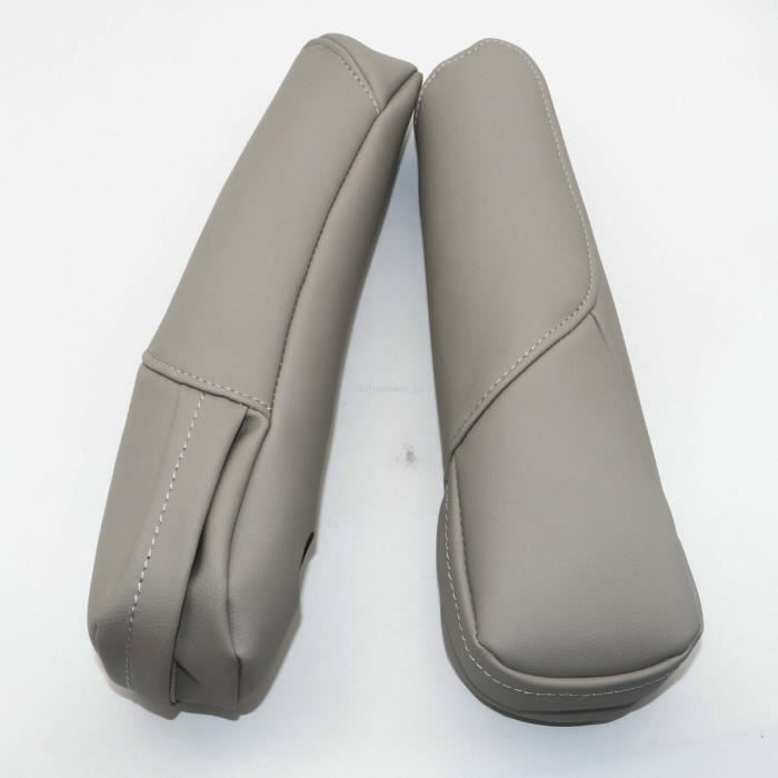 NEUFU 2pcs Accoudoir de Siège Confort Réglable -en cuir microfibre -pour Honda CR-V CRV 2007-2009 Gris