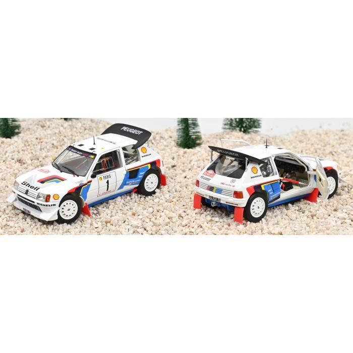 Voiture de Collection Peugeot 205 T16 - Rallye Monte-Carlo 1986 SALONEN / HARJANNE 1/18
