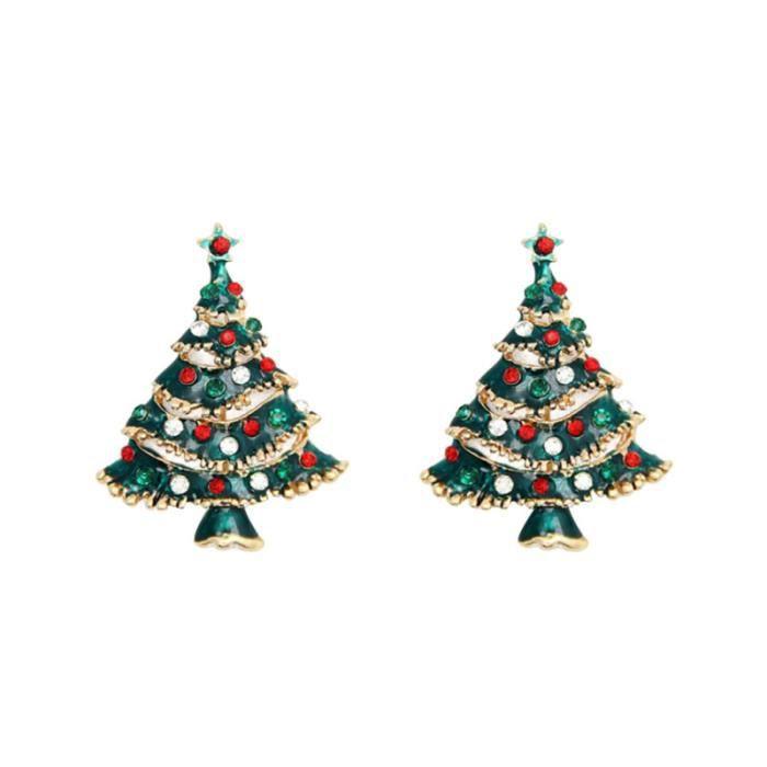 2pcs broche d'arbre de noël femmes élégantes goupilles de sécurité cadeau décoratif créatif de pour les CARTE GRAPHIQUE INTERNE