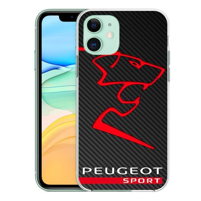 coque pour iphone 11 peugeot sport logo