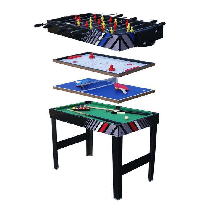 Kit de baby foot table 4 en 1 multi fonctions table soccer table de jeu ach - Table multi jeux 5 en 1 ...