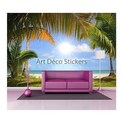 Stickers muraux g ant d co plage 1508 dimensions for Plage stickers muraux
