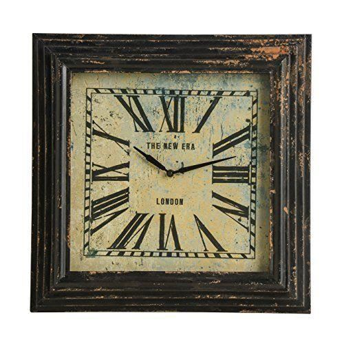 Premier housewares 49 x 49 x 7 cm new york loft horloge for Horloge murale new york
