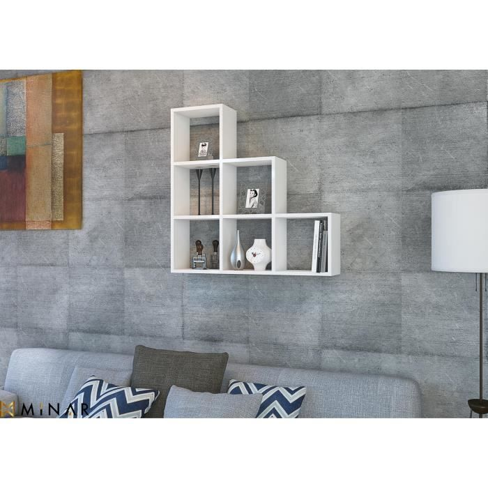 minar yaman wall tag re white ymndr achat vente etag re murale minar yaman wall. Black Bedroom Furniture Sets. Home Design Ideas