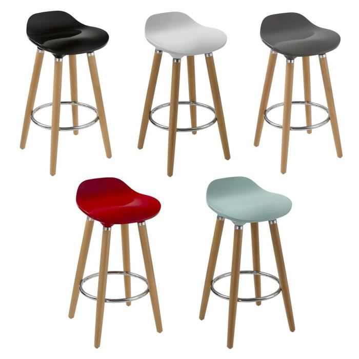 oslo lot de 5 tabourets de bar multicolore achat vente tabouret de bar cdiscount. Black Bedroom Furniture Sets. Home Design Ideas