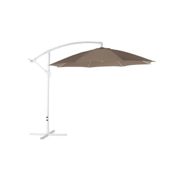 parasol excentr taupe solex achat vente parasol parasol excentr taupe solex soldes. Black Bedroom Furniture Sets. Home Design Ideas