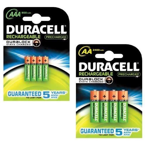 duracell aa aaa pre charged pile rechargeable achat vente piles cdiscount. Black Bedroom Furniture Sets. Home Design Ideas