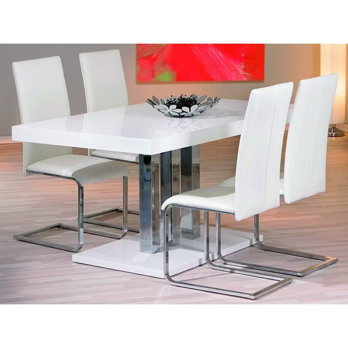table rectangulaire palazzo blanche achat vente table. Black Bedroom Furniture Sets. Home Design Ideas
