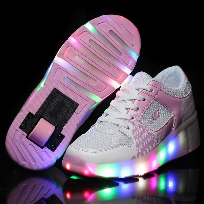 heelys mode enfants heelys chaussures led batterie led lumineux chaussures de sports baskets. Black Bedroom Furniture Sets. Home Design Ideas