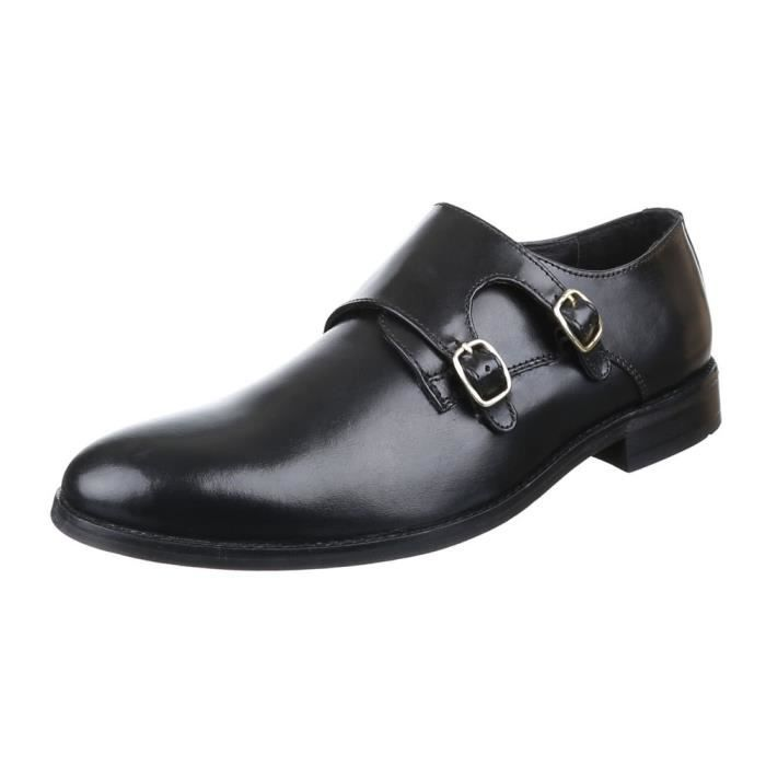 homme chaussures affaires-chaussures cuir noir 42