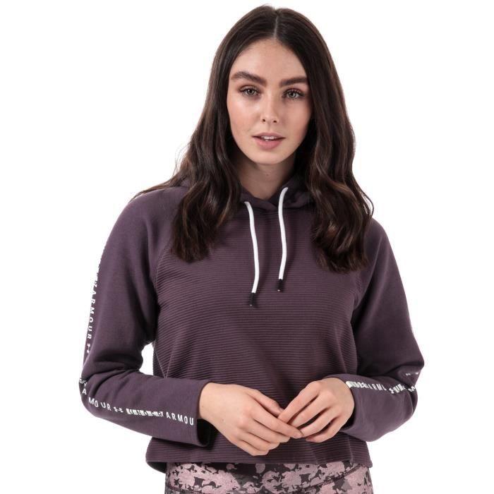 Sweat Under Armour Microthread Fleece pour femme en violet.