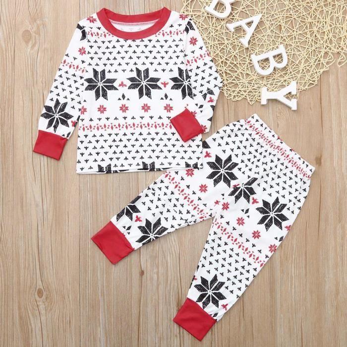 PYJAMA Garçons filles bébé famille pyjamas de noël jammie