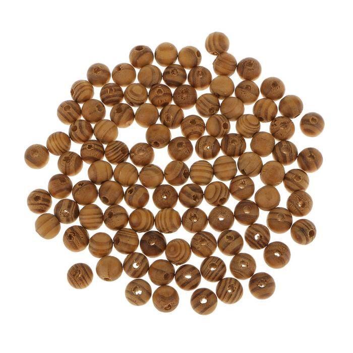Très bonne qualité Set 10 x 25 mm naturel en bois Perles