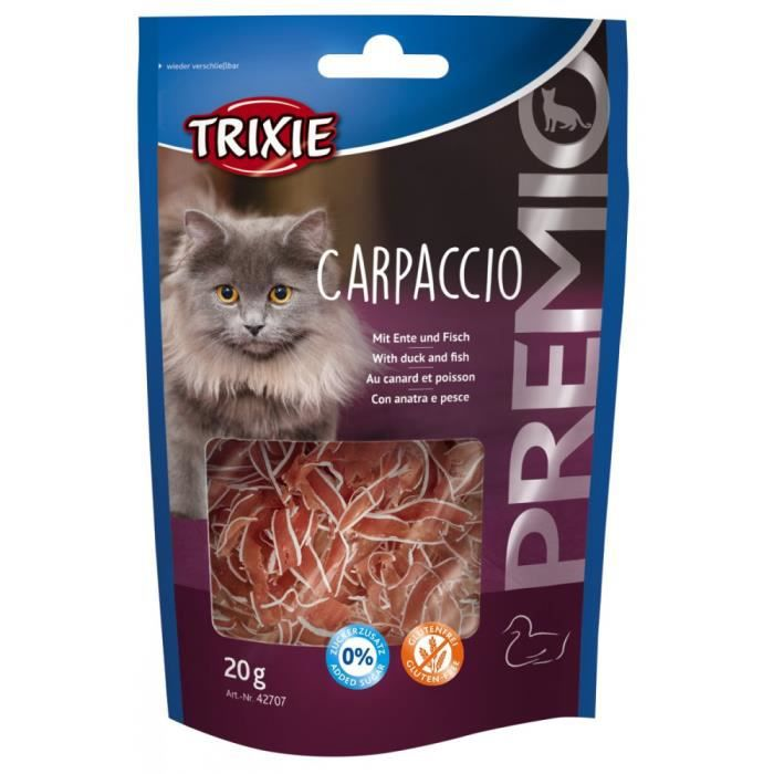 Premio Carpaccio Au Canard Et Poisson - 20 G Lot De 10