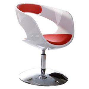 FAUTEUIL Siège design rotatif 'SPACE' pivotant PU rouge ...