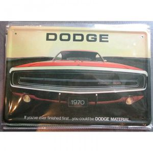 OBJET DÉCORATION MURALE plaque dodge charger 1970 tole deco garage metal p