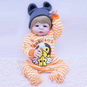 POUPÉE bébé poupées Reborn garçon 22'' 55CM réaliste tous