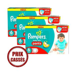 COUCHE Giga Pack 192 Couches Pampers Baby Dry Pants taill