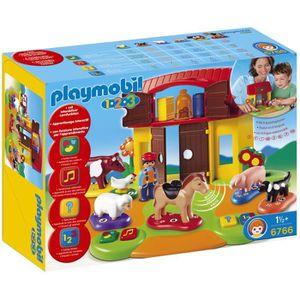 UNIVERS MINIATURE PLAYMOBIL 1.2.3. 6766 Ferme Interactive 1.2.3.