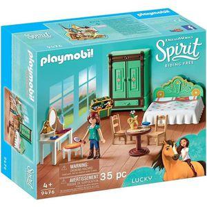 UNIVERS MINIATURE PLAYMOBIL 9476 - Spirit - Chambre de Lucky - Nouve