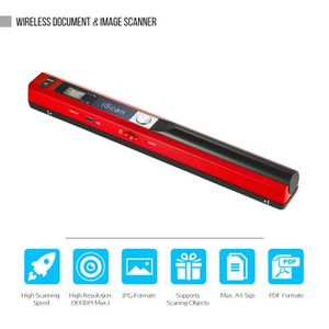 SCANNER Portable Sans fil Document Scanner A4 900DPI JPG/P