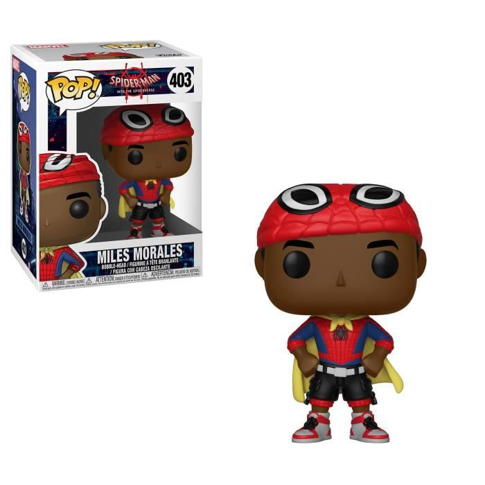 Figurine Funko Pop! Marvel: Spider-Man Animated- Miles avec cape