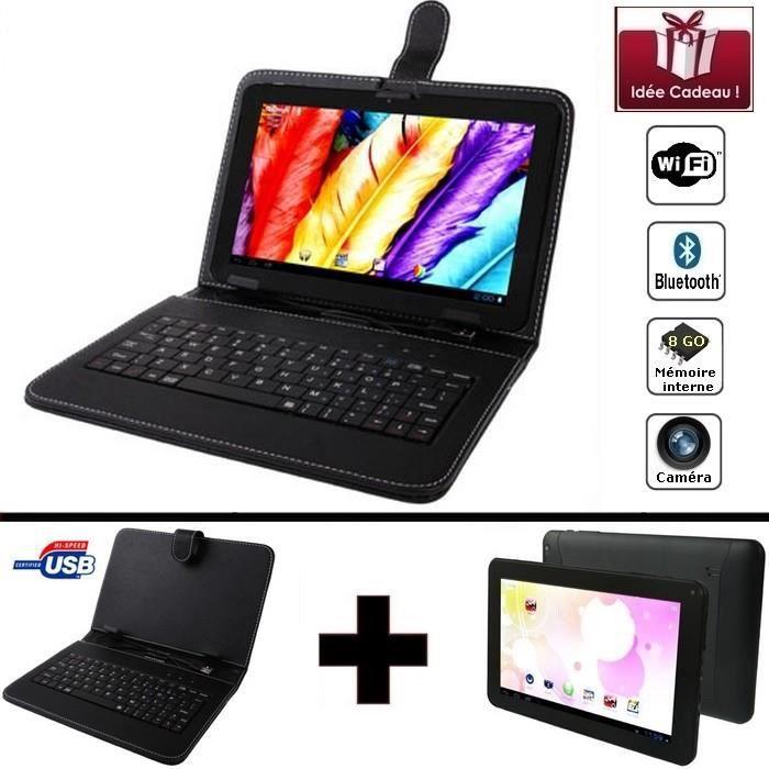 Mega PACK- Tablette noire numérique Wifi 9 pouces + Clavier...