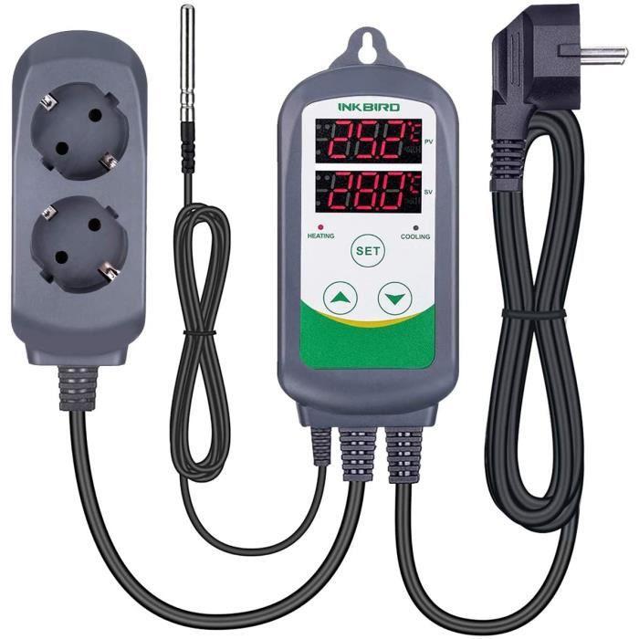Régulateur de température numérique Chauffage Refroidissement Régulateur de température PriseThermostat INKBIRD ITC-308 220V