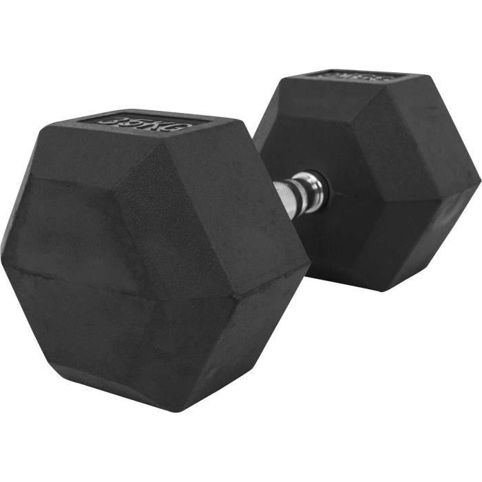 Gorilla Sports - Haltère Hexagonal en Caoutchouc (35 KG)