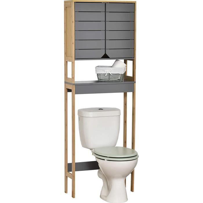 MadeInNature Meuble pour Salle de Bain Calédonie, Meuble Toilette ou Salle de Bain (Meuble Dessus de WC calédonie)