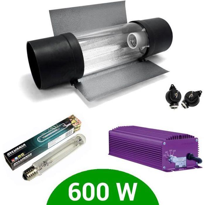 Kit eclairage électronique dimmable Lumatek 600W + Grolux HPS + Cooltube Protube